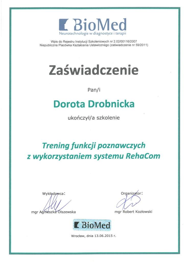 Szkolenie Metoda RehaCom
