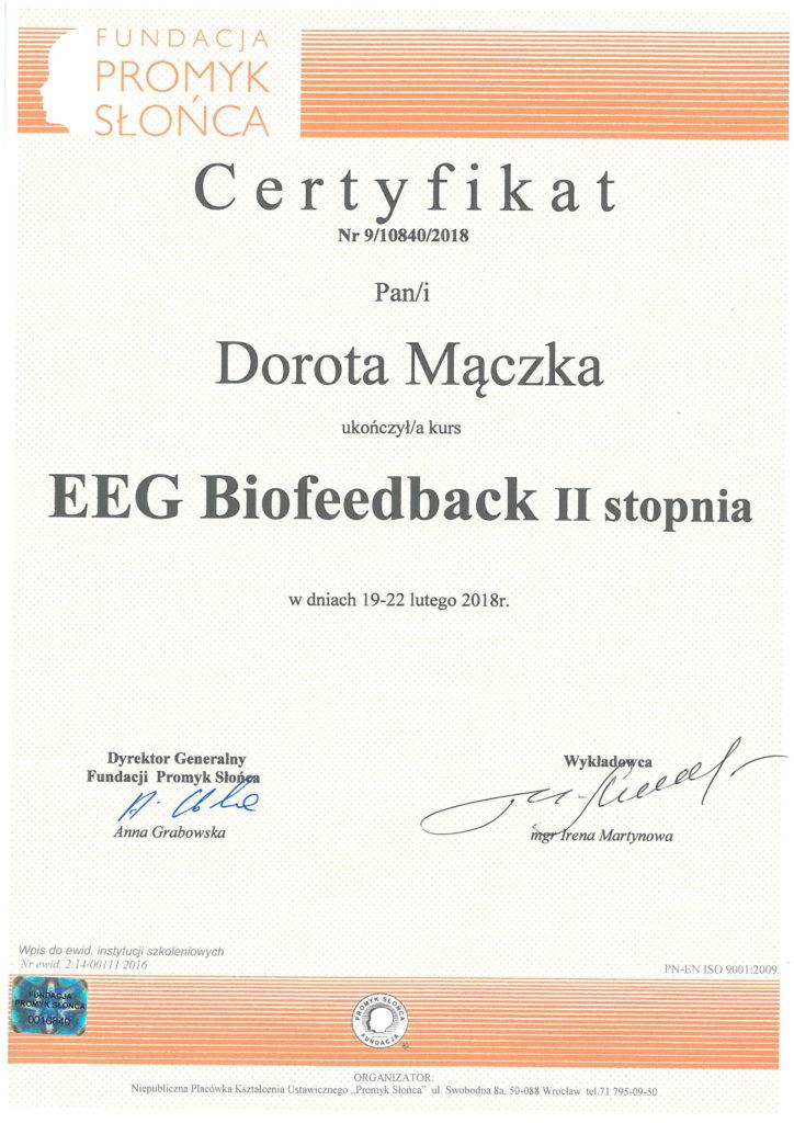 Szkolenie Biofeedback II stopień