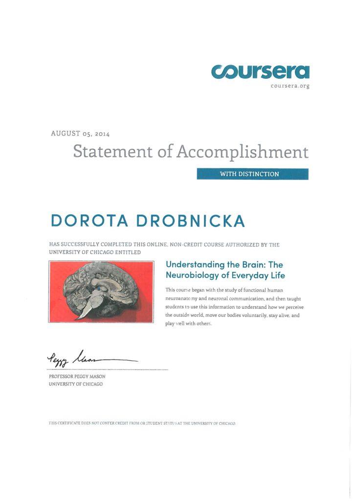 Kurs Neurobiology Uniwersytet Chicago